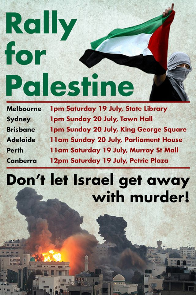 rally for palestine